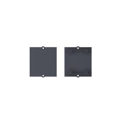 Bachmann fitting-cove: Custom module blank cover with screw dome, Black - Zwart