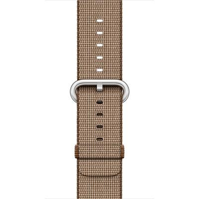 Apple : Watch 42mm, Koffiebruin/Karamel, geweven nylon - Beige, Bruin