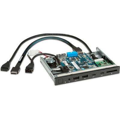 HP Z Premium I/O voor, 2x USB-A, 2x USB-C Interfaceadapter - Zwart, Groen, Grijs
