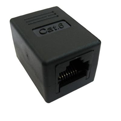 Value RJ-45 Modular Coupler, Cat.6, unshielded, black Patch panel accessoire - Zwart