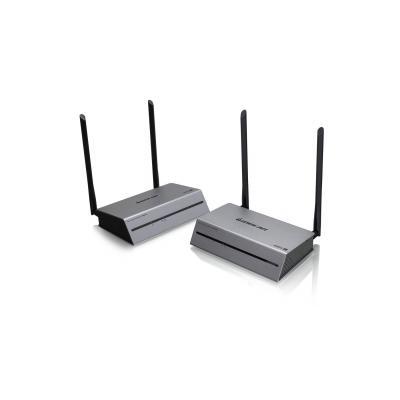 Iogear Ultra Long-Range Wireless 4K @ 60Hz Video Extender Kit AV extender - Zwart, Grijs