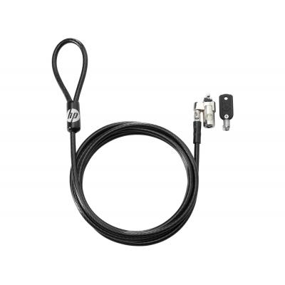 HP Keyed Cable Lock 10mm Kabelslot - Zwart