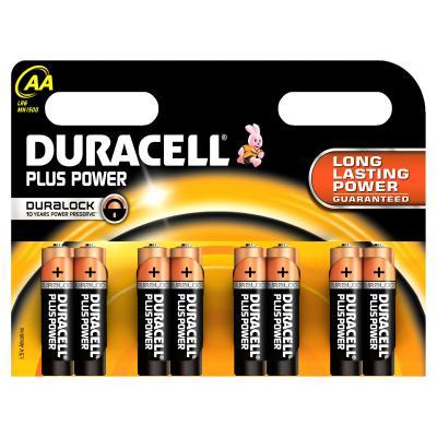 Duracell batterij: AA Plus Power batterijen (8 stuks) - Zwart, Oranje