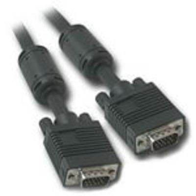 C2G 0.5m Monitor HD15 M/M cable VGA kabel  - Zwart