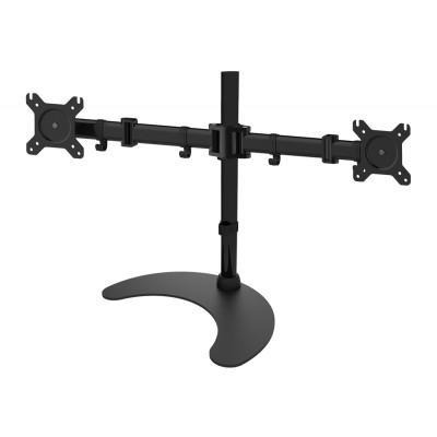 "Techly Desk Stand for 2 Monitor 13-27"" with Base h.400m ICA-LCD 3410 Monitorarm - Zwart"