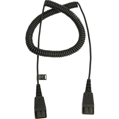 Jabra QD to QD extension cord - Zwart