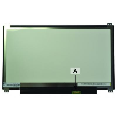 2-power notebook reserve-onderdeel: 13.3 1366x768 WXGA HD LED Matte eDP Screen - Zwart, Groen