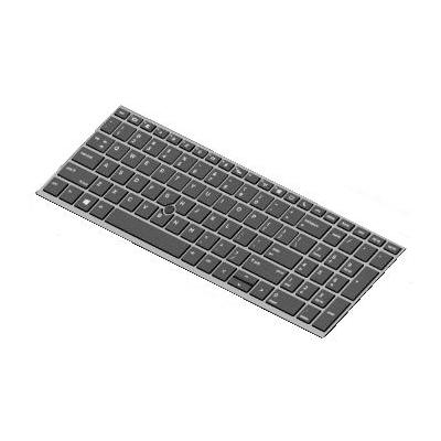 HP Keyboard, backlit for ZBook 15u G5 notebook reserve-onderdeel - Zwart
