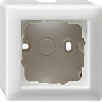 GIRA Opbouwbehuizing, compleet met afdekraam Standaard 55, enkelvoudig, zuiver wit glanzend