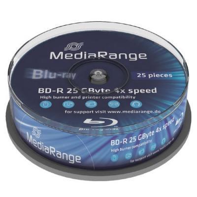 Mediarange BD: MR503, 25GB, BD-R, 4x, Cake25