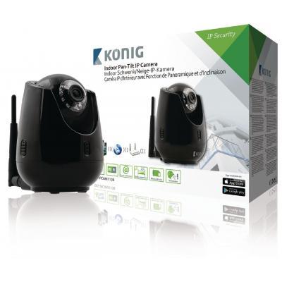König beveiligingscamera: IP, 640x480, MJPEG, CMOS, 8 MB Flash - Zwart