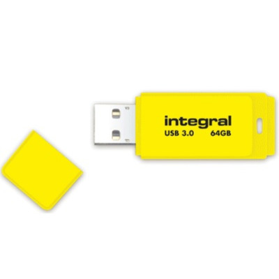Integral NEON 3.0 USB flash drive - Geel