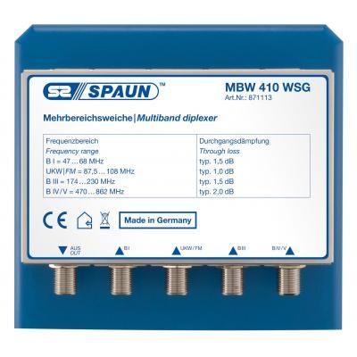 Spaun MBW 410 WSG Kabel splitter of combiner - Blauw