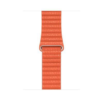 Apple 44mm Sunset Leather Loop - Medium horloge-band - Oranje