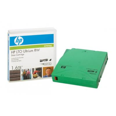 Hewlett Packard Enterprise LTO4 Ultrium 1.6TB Read/Write Data Cartridge Datatape - Groen