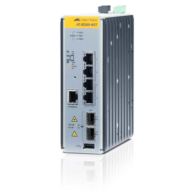 Allied Telesis AT-IE200-6GT Switch - Zwart