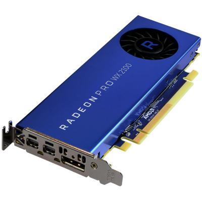 AMD Radeon Pro WX2100 2048MB,PCI-E 3.0,2xmDP DP Videokaart - Blauw