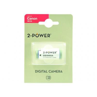 2-Power Digital Camera Battery 3.7v 600mAh - Wit