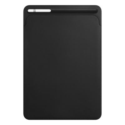 Apple tablet case: Leren Sleeve voor 10.5'' iPad Pro - Black - Zwart