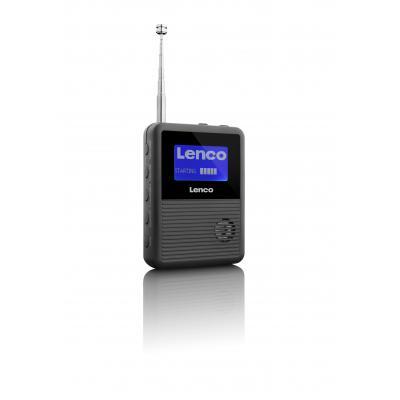 Lenco radio: PDR-04 - LCD, FM, Lithium Polymeer 1100mAh, Micro USB, DAB+ - Zwart