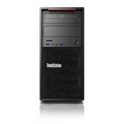 Lenovo pc: ThinkStation P320 - Zwart