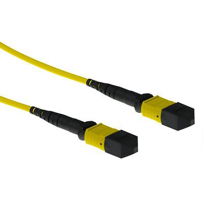 ACT 12 meter Singlemode 9/125 OS2 glasvezel patchkabel polarity B met MTP female connectoren Fiber optic kabel