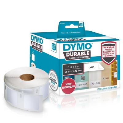 Dymo labelprinter tape: 1 roll, 1700 labels, 25x25 mm - Wit