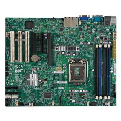 Supermicro server/werkstation moederbord: MBD-X9SCA-F-O, Intel LGA1155, Intel C204 PCH, 4 x 240pin DDR3 DIMM, 6 x SATA .....