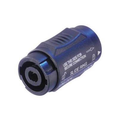 Neutrik kabel connector: NTR-NL4MMX - Zwart