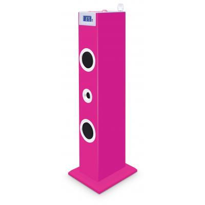 Bigben interactive home stereo set: Roze karaoke set én audiotoren met stickers