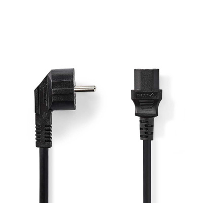 Nedis C13/Schuko, 3x 1.5mm², Ø7.9mm, PVC, 10m Electriciteitssnoer - Zwart