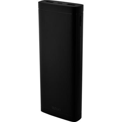 Azuri met 2 USB ports - 20.000 mAh Powerbank - Zwart