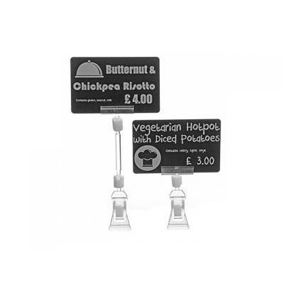 Evolis Price tag clamps 8 cm, 25 Pack Etikethouder - Transparant