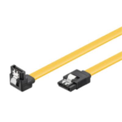 Microconnect SATA 6GB - SATA III, 0.3m ATA kabel - Zwart, Geel