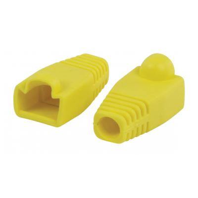 Valueline kabelbeschermer: RJ45 strain relief boot yellow - Geel