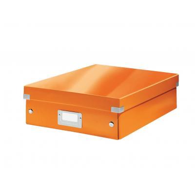 Leitz archiefdoos: Click & Store middelgrote opbergdoos - Oranje