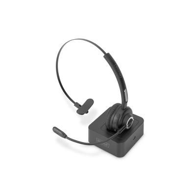 Digitus Bluetooth Office, On Ear, volume control, incl. docking station Headset - Zwart