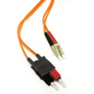 C2G 1m LC/SC LSZH Duplex 62.5/125 Multimode Fibre Patch Cable Fiber optic kabel