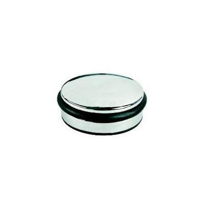 Alco deurstopper: Deurstopper laag model chroom