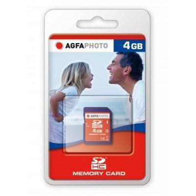 AgfaPhoto 4GB SDHC Memory card Flashgeheugen - Blauw