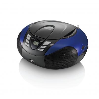 Lenco CD-radio: SCD-37 - Zwart, Blauw
