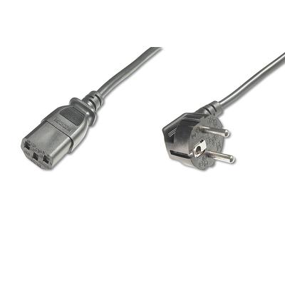 Digitus Power Cord, CEE 7/7 (Typ-F) 90ø angled - C13 M/V, H05VV-F3G Electriciteitssnoer - Zwart