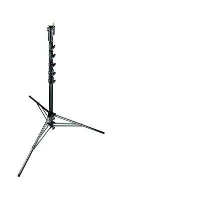 Manfrotto 269HDBU, Black Aluminium 6-Sections High Super Stand 1 Levelling Leg Tripod - Zwart