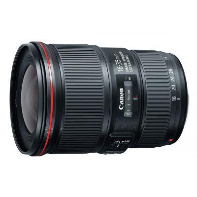 Canon camera lens: EF 16-35mm f/4L IS USM - Zwart