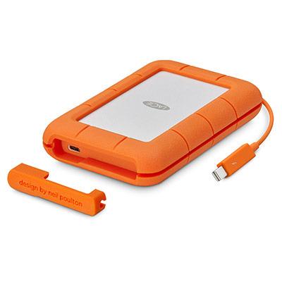 LaCie Rugged Thunderbolt USB-C Externe harde schijf - Oranje, Zilver