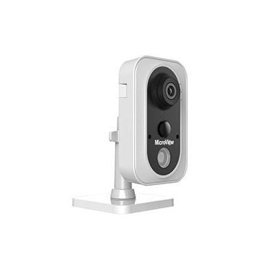 "MicroView CMOS, 1/2.8"", 10m IR, PoE, 5W, 72x3x91.9x131.3mm, 400g, Black/White Beveiligingscamera - Zwart, Wit"