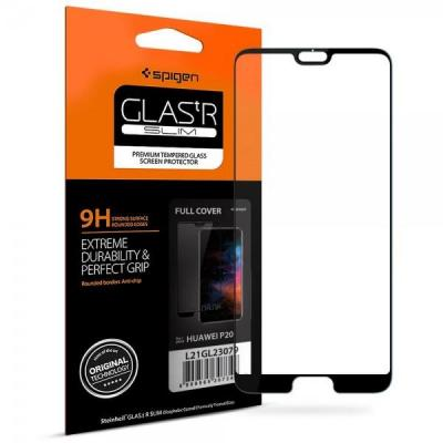 "Spigen Huawei P20 Tempered Glass ""Glas tR Full Cover"" (1 Pack) Screen protector - Transparant"