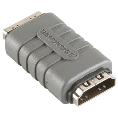 Bandridge Hoge Snelheids HDMI Koppelaar met ethernet Kabel adapter - Grijs