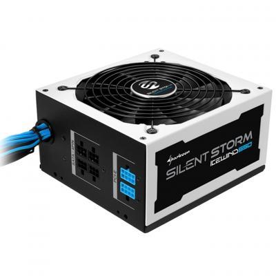 Sharkoon power supply unit: SilentStorm Icewind 650W - Zwart, Wit