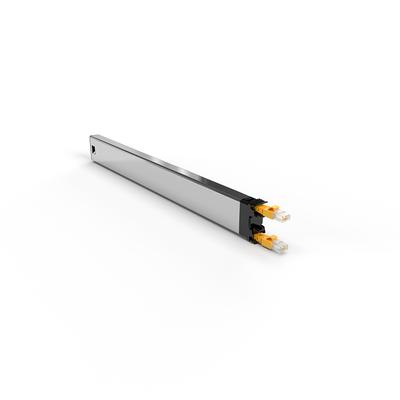 PATCHBOX ® 365 Cat.6a Cassette (UTP, Yellow, 0.8m / 8RU) Netwerkkabel - Geel